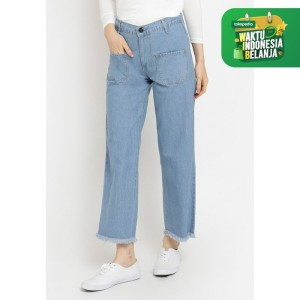 Harga celana bawahan wanita le najwa zingga kulot denim   | HARGALOKA.COM