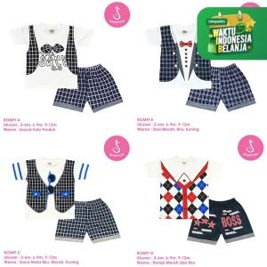 Harga katalog baju setelan bayi babyterry lengan pendek shirton grosir   rompi a size   HARGALOKA.COM