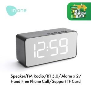 Harga inone speaker bluetooth wireless with alarm clock fm radio portable   model | HARGALOKA.COM