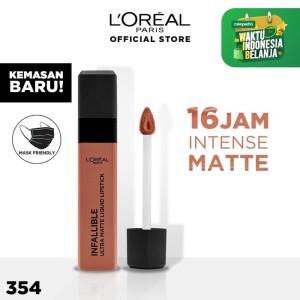 Harga l 39 oreal lipstik matte infallible pro matte liquid lip 354 | HARGALOKA.COM