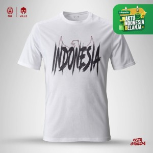 Harga mills timnas indonesia garuda cotton tee 21001gr white   putih | HARGALOKA.COM