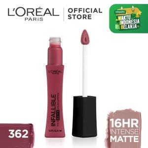 Harga l 39 oreal lipstik matte infallible pro matte liquid lip 362 plum | HARGALOKA.COM