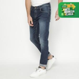 Harga papperdine 712 d indigo slim fit celana panjang jeans pria selvedge   | HARGALOKA.COM