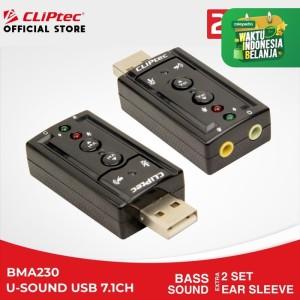 Harga cliptec bma230   u sound virtual sound card usb audio murah | HARGALOKA.COM