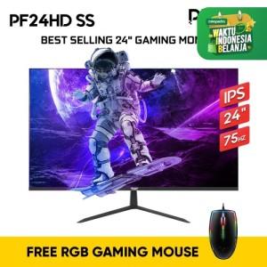 Harga armaggeddon gaming monitor pixxel pro pf24hd 24 34 ahva panel   pf24hd ss black no packing | HARGALOKA.COM
