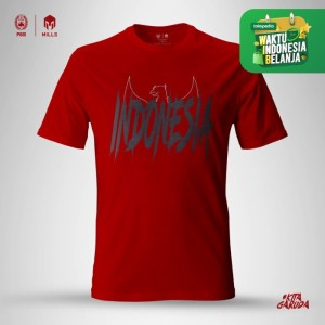 Harga mills timnas indonesia garuda cotton tee 21001gr red   merah | HARGALOKA.COM