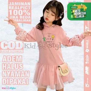 Harga dress anak cewek baju gaun dres pesta anak perempuan murah import dt7   | HARGALOKA.COM