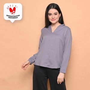 Harga cammomile blouse fashion wanita 1808032   grey | HARGALOKA.COM