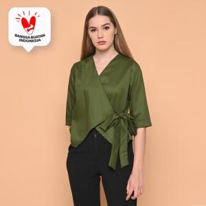 Harga cammomile blouse kimono green 1904079   green | HARGALOKA.COM