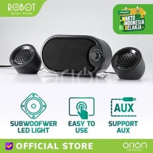 Harga robot rs170 speaker multimedia stereo with led speaker pc | HARGALOKA.COM