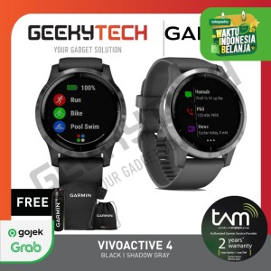 Harga garmin vivoactive 4 gps wifi   garansi resmi tam 2 tahun   black | HARGALOKA.COM