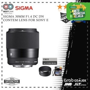 Harga sigma 30mm f1 4 dc dn contemporary lens for sony   HARGALOKA.COM