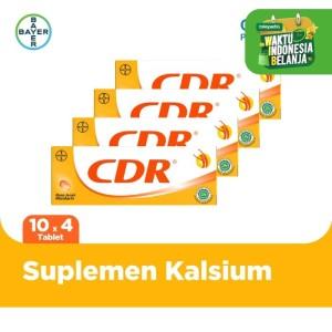 Harga cdr suplemen kalsium rasa jeruk 10 tablet x 4 | HARGALOKA.COM