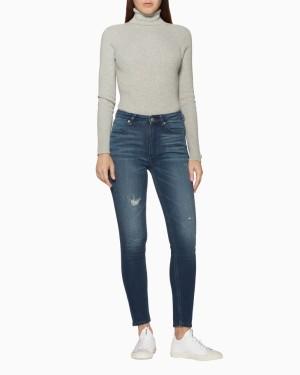 Harga calvin klein   celana jeans wanita   010 high rise skinny   biru   HARGALOKA.COM