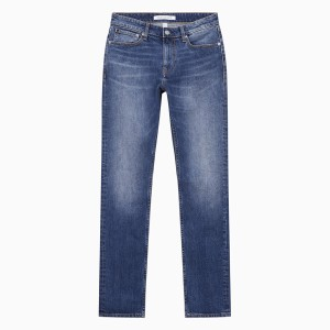 Harga calvin klein   celana jeans pria   025 slim straight   biru   HARGALOKA.COM