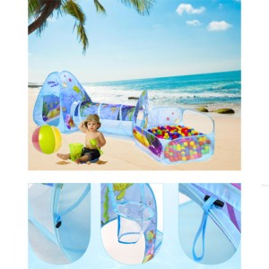 Harga kolam bola anak terowongan rumah tenda main anak 3in1 indoor | HARGALOKA.COM