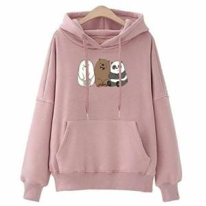 Harga panda sweater hoodie sweter murah sweater atasan wanita | HARGALOKA.COM