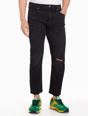 Harga calvin klein   celana jeans pria   035 straight cropped   biru   HARGALOKA.COM