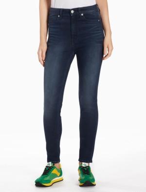 Harga calvin klein   celana jeans wanita   010 high rise skinny ankle 1   biru   HARGALOKA.COM