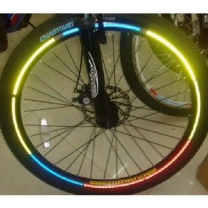 Harga bicycle wheel reflective sticker stiker roda sepeda 8 strip   | HARGALOKA.COM