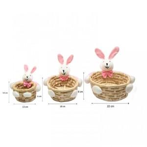 Harga keranjang souvenir boneka pink bunny ukuran sedang | HARGALOKA.COM