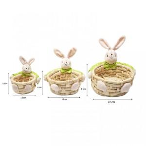Harga keranjang souvenir boneka green bunny ukuran sedang | HARGALOKA.COM
