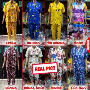 Harga baju tidur wanita piyama wanita piyama murah piyama lucu imut cantik   motif tulis | HARGALOKA.COM