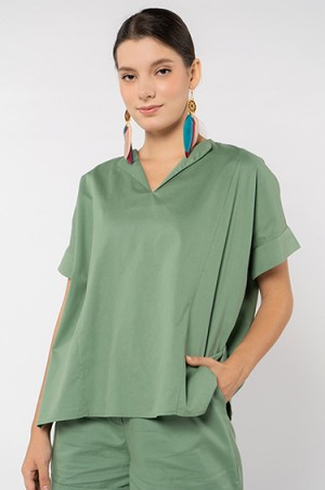 Harga cottonink   blouse wanita green dale   green | HARGALOKA.COM