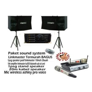 Harga promo paket sound system linkmaster jaminan paling | HARGALOKA.COM