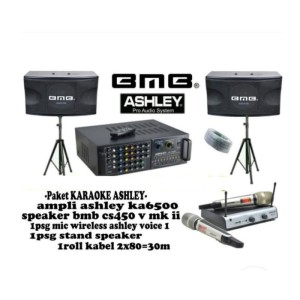 Harga murah paket sound system ashey bmb 10nch ka650 dan speaker bmb | HARGALOKA.COM