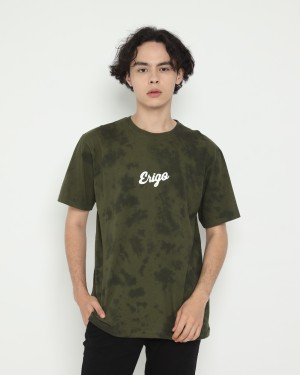Harga erigo t shirt tie dye haevey olive   | HARGALOKA.COM