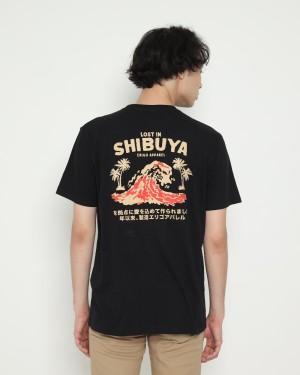 Harga erigo t shirt lost in shibuya black   | HARGALOKA.COM