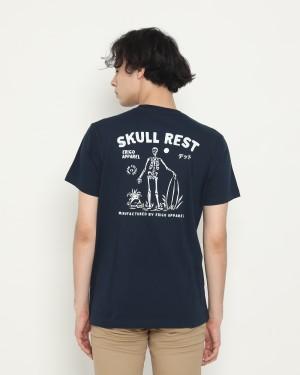 Harga erigo t shirt skull rest navy   | HARGALOKA.COM