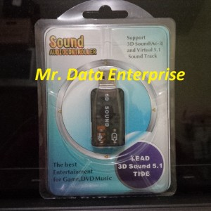 Harga usb sound card mini audio sound audio controller stereo line | HARGALOKA.COM