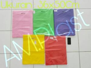 Harga shopping bag kantong belanja plastik online shop hd plong 36x50cm   | HARGALOKA.COM