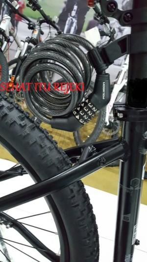 Harga kunci gembok sepeda high security lock polygon kombinasi   HARGALOKA.COM