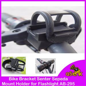 Harga bike bracket senter sepeda mount holder for flashlight   | HARGALOKA.COM