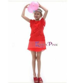 Harga fashion kids dress anak bahan sifon korea pink   kp | HARGALOKA.COM
