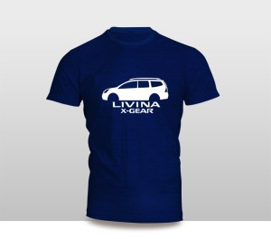 Harga kaos baju pakaian mobil nissan livina x   gear siluet   putih   HARGALOKA.COM