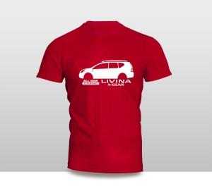 Harga kaos baju pakaian mobil nissan all new grand livina x   gear siluet   putih   HARGALOKA.COM