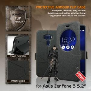 Harga asus zenfone 3 5 2 34 ze520kl leather flip case flipcase cover   HARGALOKA.COM
