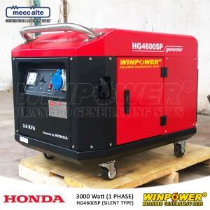 Harga genset generator honda 3000 watt silent type winpower   hg4600sp | HARGALOKA.COM