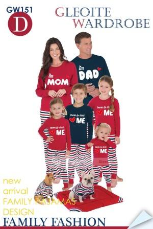 Harga piyama mom dad love me red gw | HARGALOKA.COM