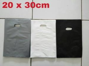 Harga kantong plastik shopping bag online hop hd plong polos pilih | HARGALOKA.COM