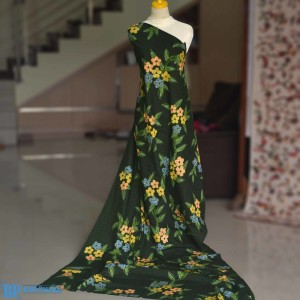 Harga kain batik tulis kembang kamboja hijau | HARGALOKA.COM