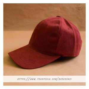 Harga topi baseball cap merah maroon dewasa polos pria wanita casual sport   | HARGALOKA.COM