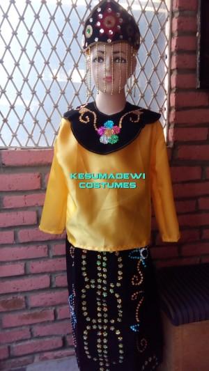 Harga baju adat kostum karnaval anak wanita daerah | HARGALOKA.COM