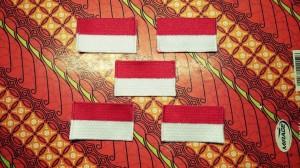 Harga badge bendera merah putih bordir full atribut sekolah | HARGALOKA.COM
