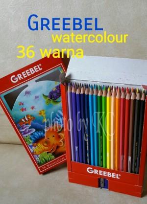Harga atk83gb 2in1 pensil cat air watercolour 36 warna greebel 8036 | HARGALOKA.COM