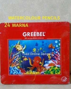 Harga atk90gb 2in1 catair amp pensil 24 warna kaleng watercolour greebel | HARGALOKA.COM